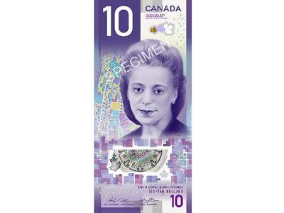 カナダで新10ドル縦型札 黒人女性肖像画を初採用